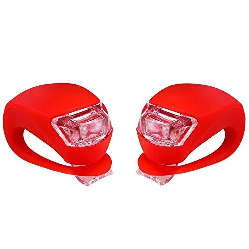Led-fietsverlichtingsset voor voor- en achterwiel fietsverlichting fietsverlichting achterlicht waterdicht en veiligheid: pakket 2 - rood