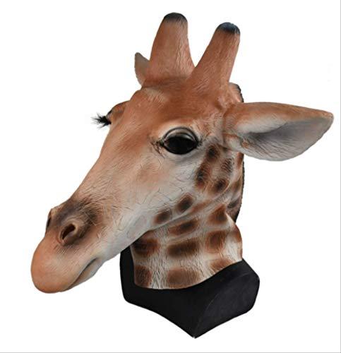tytlmaske Woodland Giraffe Maske,Latex Overhead Tier Realistische Maske,Für Ausgefallene Karneval Prop Party Maske,Passt Die Meisten Erwachsenen Köpfe