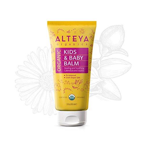 Alteya Organic Baume pour bébés 90 ml - Certifié organique par USDA GAGNANT DE PRIX Traitement pour soins de la peau de bébé Pur, protège la peau sensible et irritée