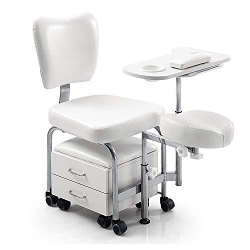 WANGXN Manicure Pedicure Nail Station stoel 2in 1 Beauty Tafel Bureau Kruk Spa lades