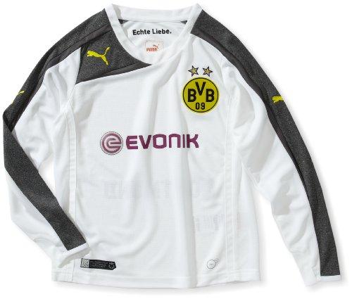 PUMA, Maglietta Bambino BVB Kids a Maniche Lunghe Third Maglietta Replica con Logo dello Sponsor
