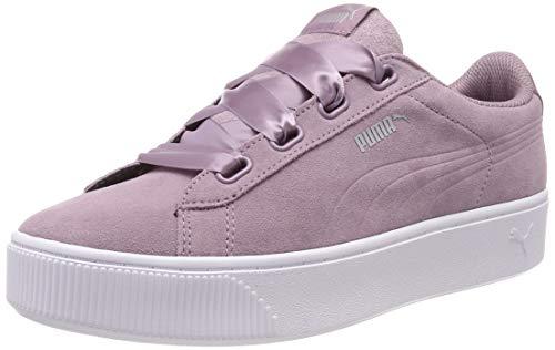 Puma Damen Vikky Stacked Ribbon S Sneaker, Violett (Elderberry-Elderberry), 41 EU