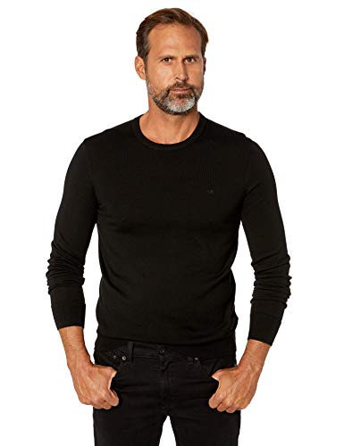Crew Neck Black Sweaters for Mens