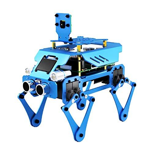 Color Yun Robot de Acoplamiento de programación de educación científica, Tres en uno, Robot de aleación de Aluminio Duradero Estable, Perro, educación para niños