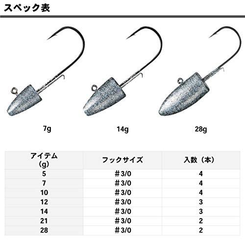 ダイワ(Daiwa)シーバスジグヘッドSS12g#3/0ルアー