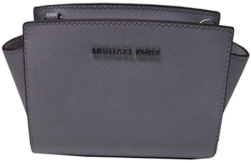 """Top Zip Closure; Silver Tone Hardware; Removable Adjustable Shoulder Strap 3 Credit Card Slots Saffiano Leather Measures approximately 7.5"""" (L) x 5"""" (H) x 3"""" (W) Inches"""