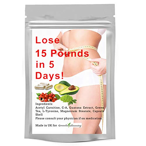 Greenleaf Slimming Diet Pills - Weight Loss Capsules for Men and Woman - Lose 15LBS in 5 Days Premium Slimming Pills Green Tea Extract Diet Pills