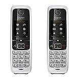 Gigaset C430HX Duo - 2 DECT-Handye schnurlos für Router - Fritzbox, Speedport kompatibel - 1,8 Zoll Farbdisplay - 2 Mobilteile mit Ladeschalen, Schwarz-Silber