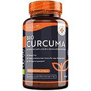 Bio Curcuma - 270 vegane Kurkuma Kapseln - 4542mg pro Tagesdosis - Mit Bio schwarzem Pfeffer und Bio Ingwer - Laborgetestet in Deutschland - Hochdosiert