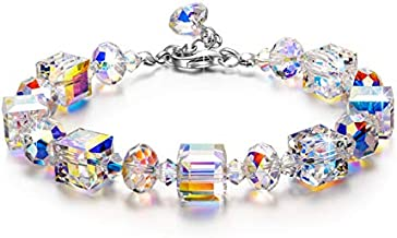 LADY COLOUR Bracelets for Women Made with Crystals from Swarovski, Gifts for Women, Northern Lights Jewelry for Women, Christmas Gifts for Her, Birthday Gifts for Wife Best Friend Mom Grandma
