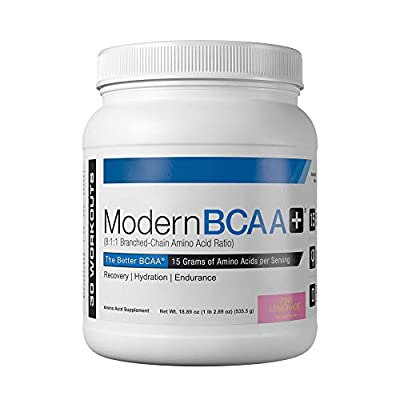 Modern BCAA+ Essential Amino Acid (EAA) Branched Chain Amino Acid (BCAA) Muscle Recovery Supplement Powder Drink Mix - 30 Servings (Pink Lemonade)