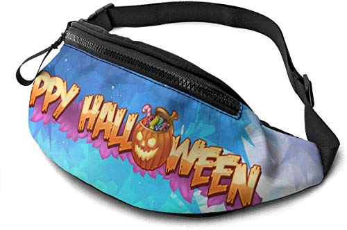 Pumpkin Flaming Clipart Fashion Casual Waist Bag Fanny Pack Travel Bum Bags Running Pocket for Men Women