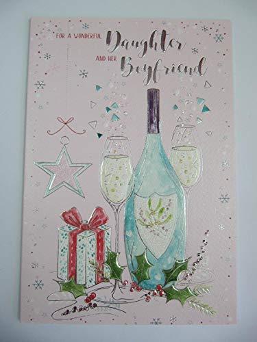 Tarjeta de felicitación de Navidad de ICG WonderfUL para hija y su...