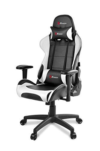 Arozzi Gaming Stuhl VERONA schwarz/weiß