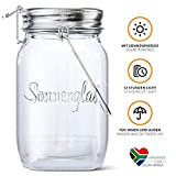 SONNENGLAS Original Premium Solar LED Lantern | Solar and USB Charging | Sturdy Glass and Stainless Steel...