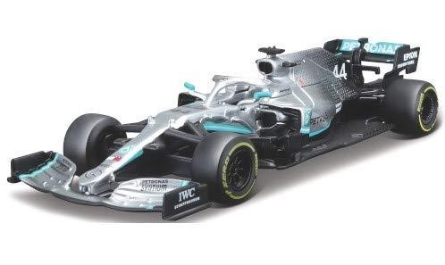 Bburago Race 18-38036 Mercedes AMG Petronas F1 W10 EQ Power Weltmeister Lewis Hamilton Nr 44 Formel 1 2019 1/43 Modell Auto