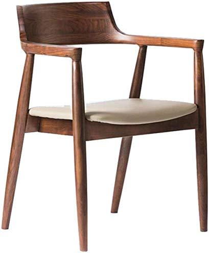 XUANFEI Silla de Oficina Sillas de Comedor Silla Heavy Duty Solid Wood Room Cocina Lado del Brazo de sillas de Cocina de Cocina