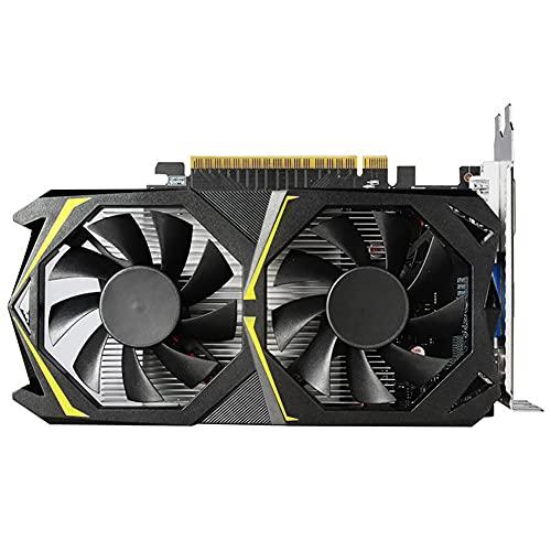 YUFENGDING Tarjeta de gráficos GTX1050TI 4G, Tarjeta de Video de la Tarjeta de gráficos de Juego DDR5 4GB 128bit con Ventilador de refrigeración Tarjeta de Memoria de Video de