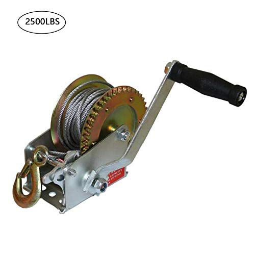 XtremepowerUS 40:1 2000lbs 1ton Capacity Worm Gear Hand Winch