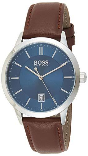 Hugo BOSS Watch Reloj Analógico para Hombre de Cuarzo con Correa en Cuero 1513612