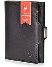 DONBOLSO Wallety NextGen I - Custodia per carte di credito con scomparto portamonete, fino a 11 carte I RFID