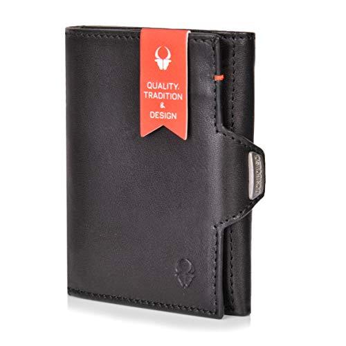 DONBOLSO Wallety NextGen I Tarjetero con compartimento para monedas, hasta 11 tarjetas, protección RFID I Wallety