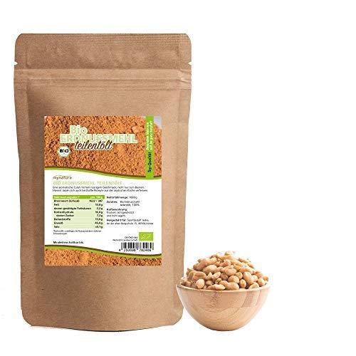 Mynatura Bio Erdnussmehl I Teilentölt I Erdnuss I Mehl I Eiweiß I Kochen I Backen I Erdnusssoße I Peanut I Beutel (1 x 1000g)