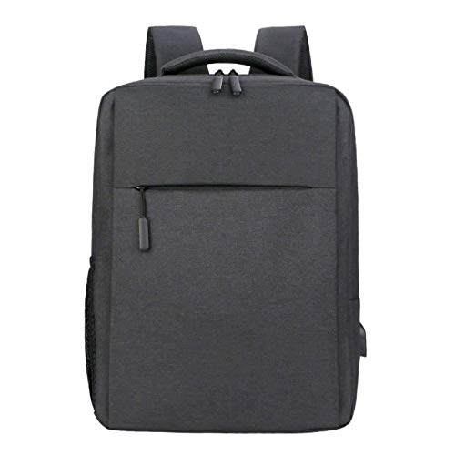 Laptop Backpack, Business Travel Laptop Backpack Bookbag Waterproof Anti Theft Travel Backpack For Work College-Cotton linen black-15.6 inch