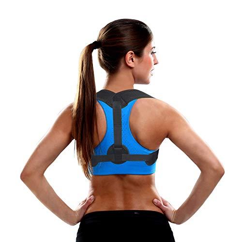 Posture Corrector for Women Men, Back Brace, Comfortable Posture Trainer for Spinal Alignment and Posture Support, Adjustable Back Straightener, Shoulder Supports (Universal)