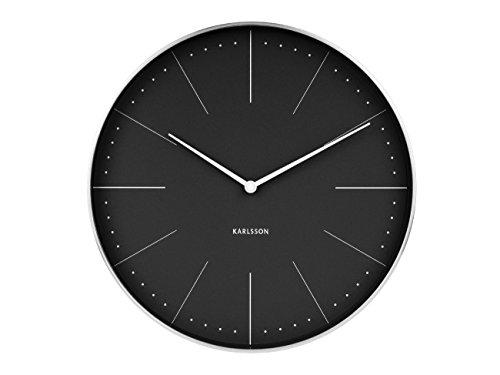 Karlsson Normann horloge, wandklok, staal, zwart, één maat