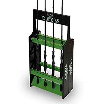 Vexan Super 16 Fishing Rod Rack - Perfect for Bass Walleye Crappie Musky Northern Pike Inshore Catfish & Perch Fishing Rod Reel Holder