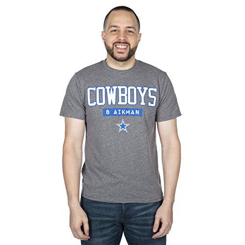 NFL Dallas Cowboys Mens Akron Emmitt Smith Tee, Gray, X-Large
