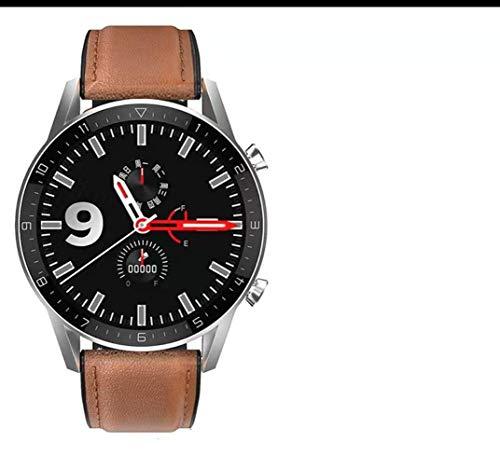Damian-Sewing Reloj Digital Multifuncional,Reloj Deportivo Al Aire Libre Podómetro Reloj Impermeable Pantalla Redonda Mesa Reloj Inteligente for Exteriores Resistente Al Agua (Color : Brown)