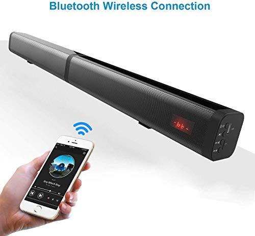 Punnkk Twin Roar Detachable Bluetooth Soundbar TV 40w LED Wireless 2in1 Speaker TV Home Theater AUX Sound bar Bluetooth 5.0...