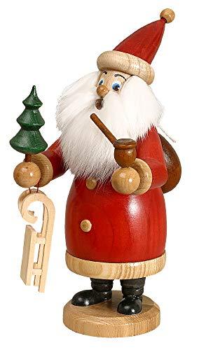 DWU Original Erzgebirgischer Räuchermann® Weihnachtsmann rot mit Geschenke #958/R