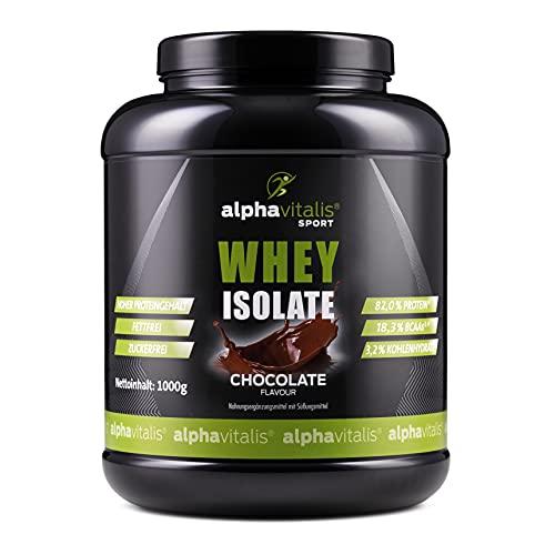 Whey Protein Isolate Schoko - H²O-optimiert - 82,0% Protein! - Zuckerfrei - Fettfrei - 1000g - WPI ohne Aspartam oder Cyclamat