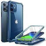 i-Blason Funda 6.1 Inch iPhone 12 /iPhone 12 Pro [Ares] 360 Grados Carcasa con Protector de Pantalla Integrado - Azul