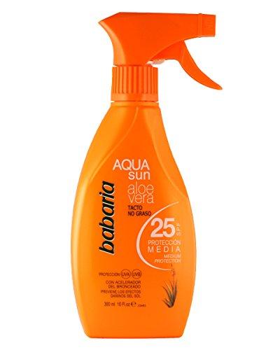 Babaria 1004-29780 Ecran Solaire Aqua Sun Aloe SPF25 300 ml