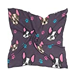 QMIN Pañuelo cuadrado de seda Animal Francés Bulldog Paw Print Pañuelo de moda ligero abrigo para el pelo diademas de cuello ordenado bufandas para mujer, 60 x 60 cm