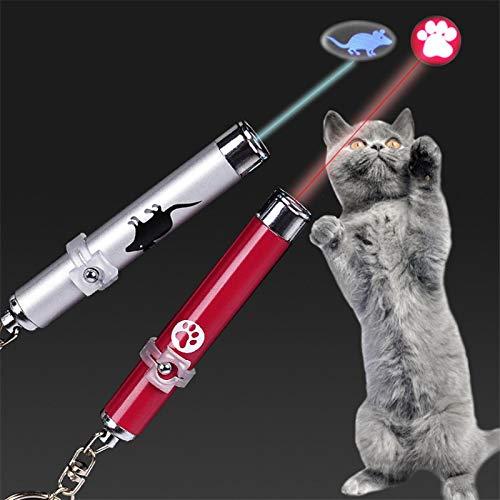 HAODGUO Lustige Pet LED Laser Spielzeug Katze Laser Spielzeug Katze Pointer Licht Stift Interaktive Spielzeug Mit Helle Animation Maus Schatten Kleine Tier Spielzeug