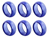 il pregio Colored Resin Napkin Rings Set, Elegant Décor Napkin Holder Rings for Christmas, Thanksgiving, Dinner Parties, Weddings, and Holidays and Package Sizes   Value Pack of 6   Blue
