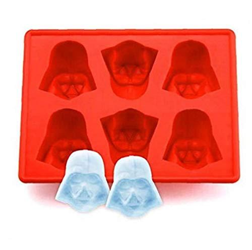 Amoyer Star Wars Ice Tray Star Wars Darth Vader Silikon-EIS-behälter-schokoladen-Form