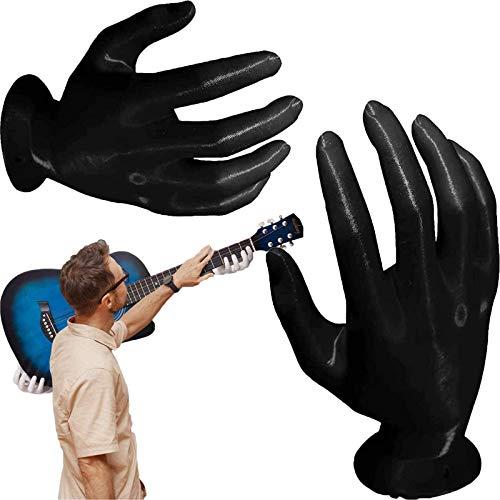 GUANJIAN SuspensióN De Pared para Guitarra De Mano 3D, Soporte De Pared para Guitarra, Colgador De Guitarra En Forma De Mano, Soporte para SuspensióN De Auriculares De Montaje En Pared Negro