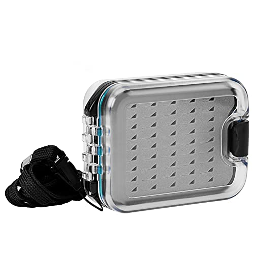 SF Plastic Waterproof Pocket Fly Fishing Box Double Sided Clear Lid...