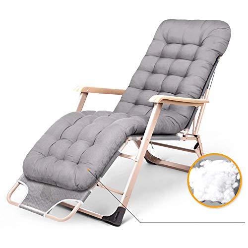 Sillas Zero Gravity Tumbona reclinable Resistente con cojín Grueso, Silla Gris Ajustable Zero Gravity para terraza