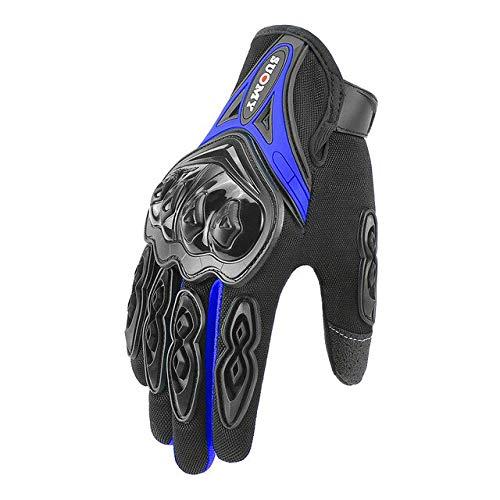 IAMZHL Motorradhandschuhe Guantes Moto Reithandschuhe Motos Handschuhe Atmungsaktiv Motorrad Vollfinger Wasserdicht Winddicht Winter-SU-10 Blue-XXL