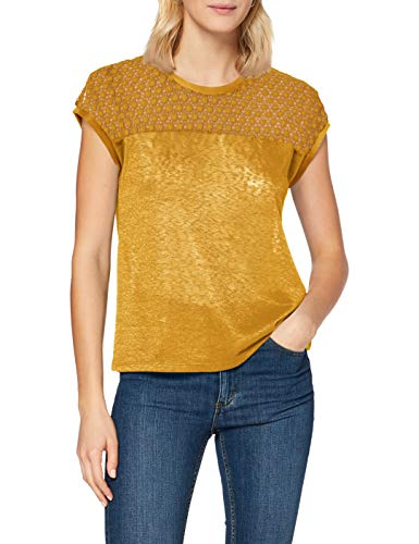 ONLY Damen ONLRILEY S/S Mix TOP JRS Bluse, Chai Tea, XS