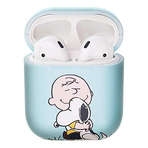 Peanuts Charlie Brown ピーナッツ チャーリー ブラウン AirPods と互換性があります ケース エアーポッズ用ケース 硬い スリム ハード カバー (面 チャーリー ブラウン スヌーピー) [並行輸入品]