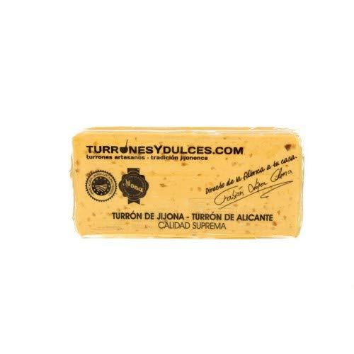 Turrón blando Jijona 70% almendra marcona, artesano. Tableta de 300 gramos – Turrones...