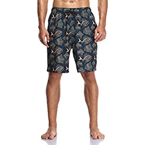 Flytop Mens Swim Trunks Quick Dry Board Shorts with Zipper Pockets Bathing Suit